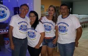 Sr. Josias, Dona Eneide, Sra Allana e o Sr. César